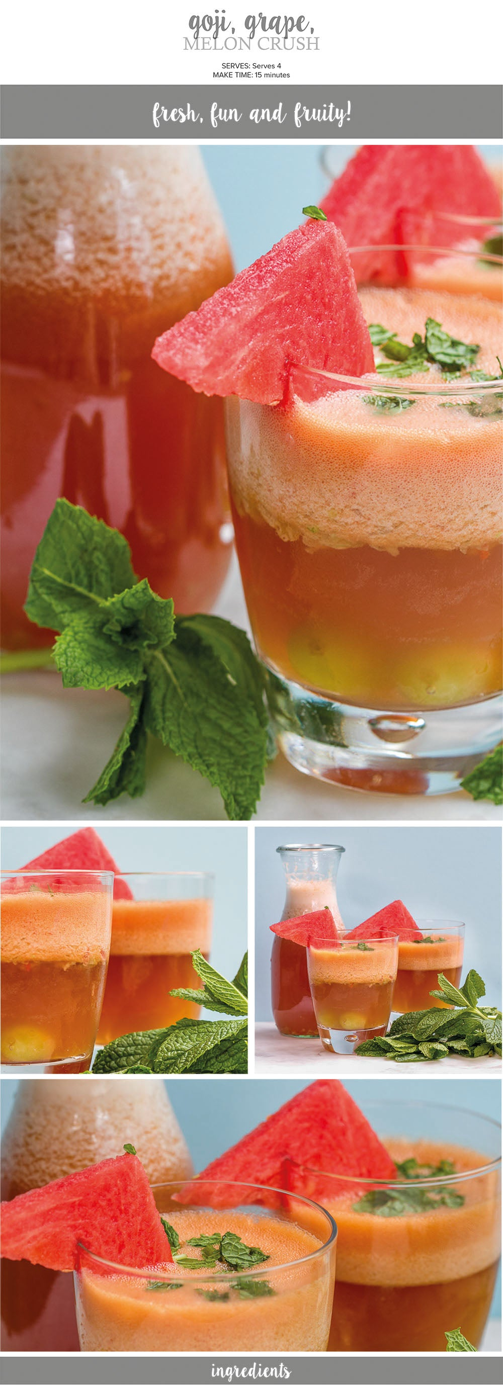 Goji, grape and melon crush recipe