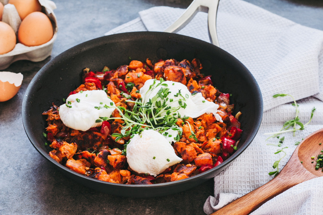 Smokey BBQ Chorizo Hash and Eggs recipe