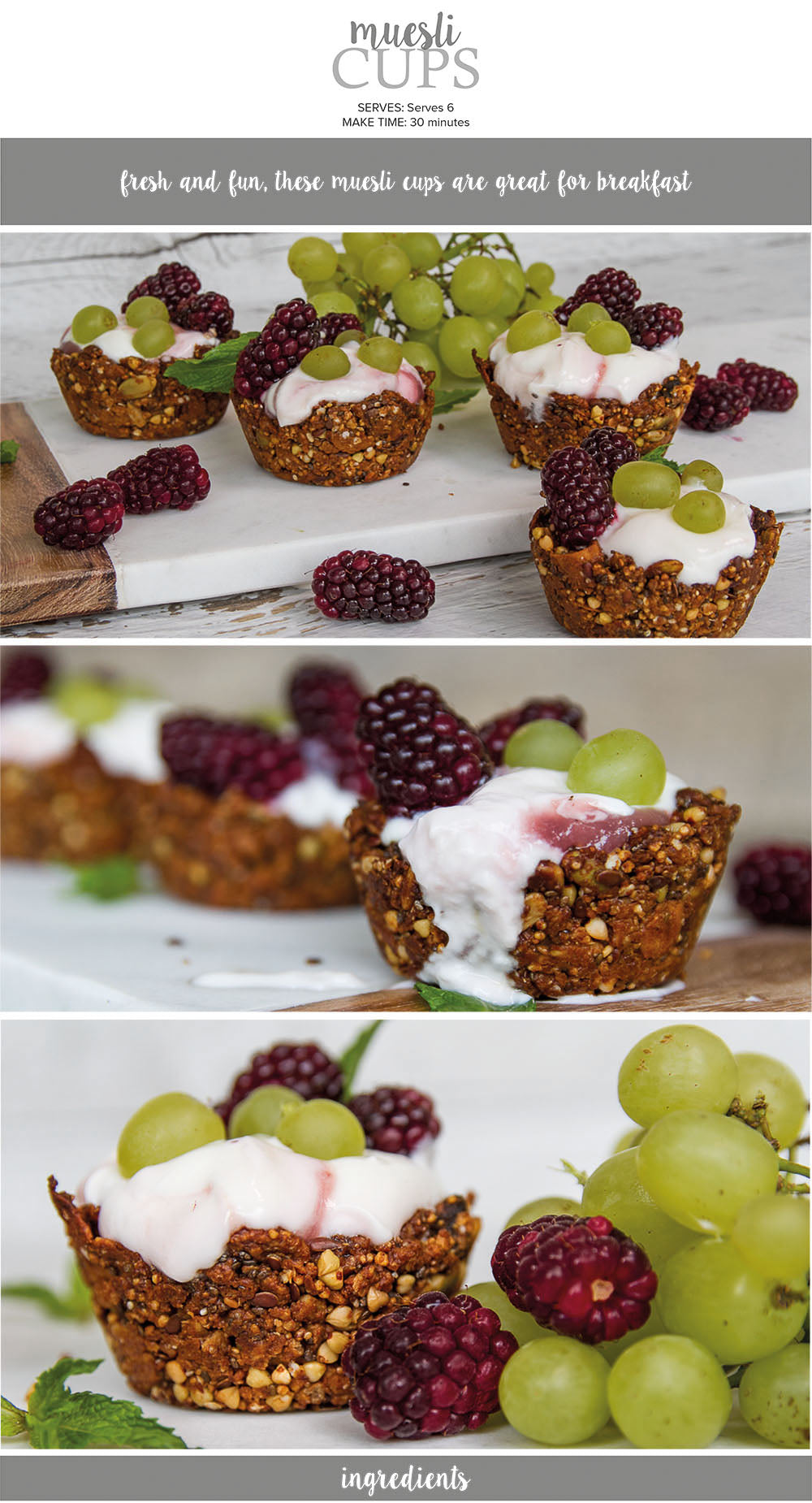 Muesli cups recipe