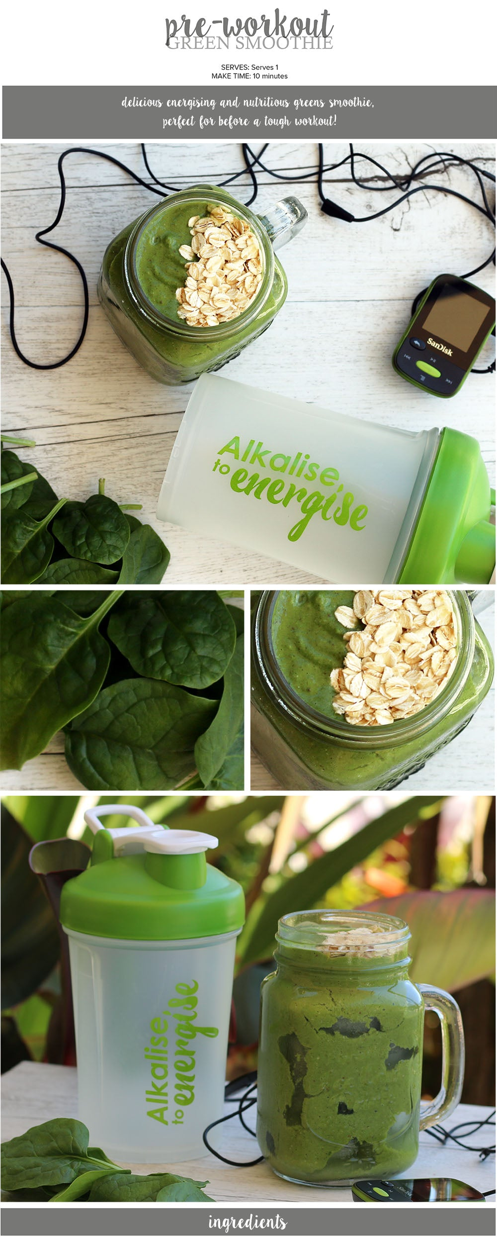 Pre Workout Green Smoothie Recipe