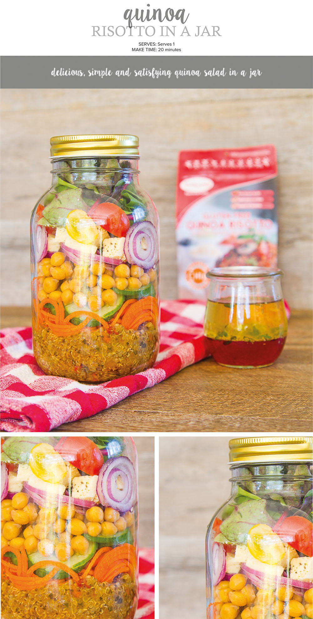 Quinoa Risotto in a jar recipe