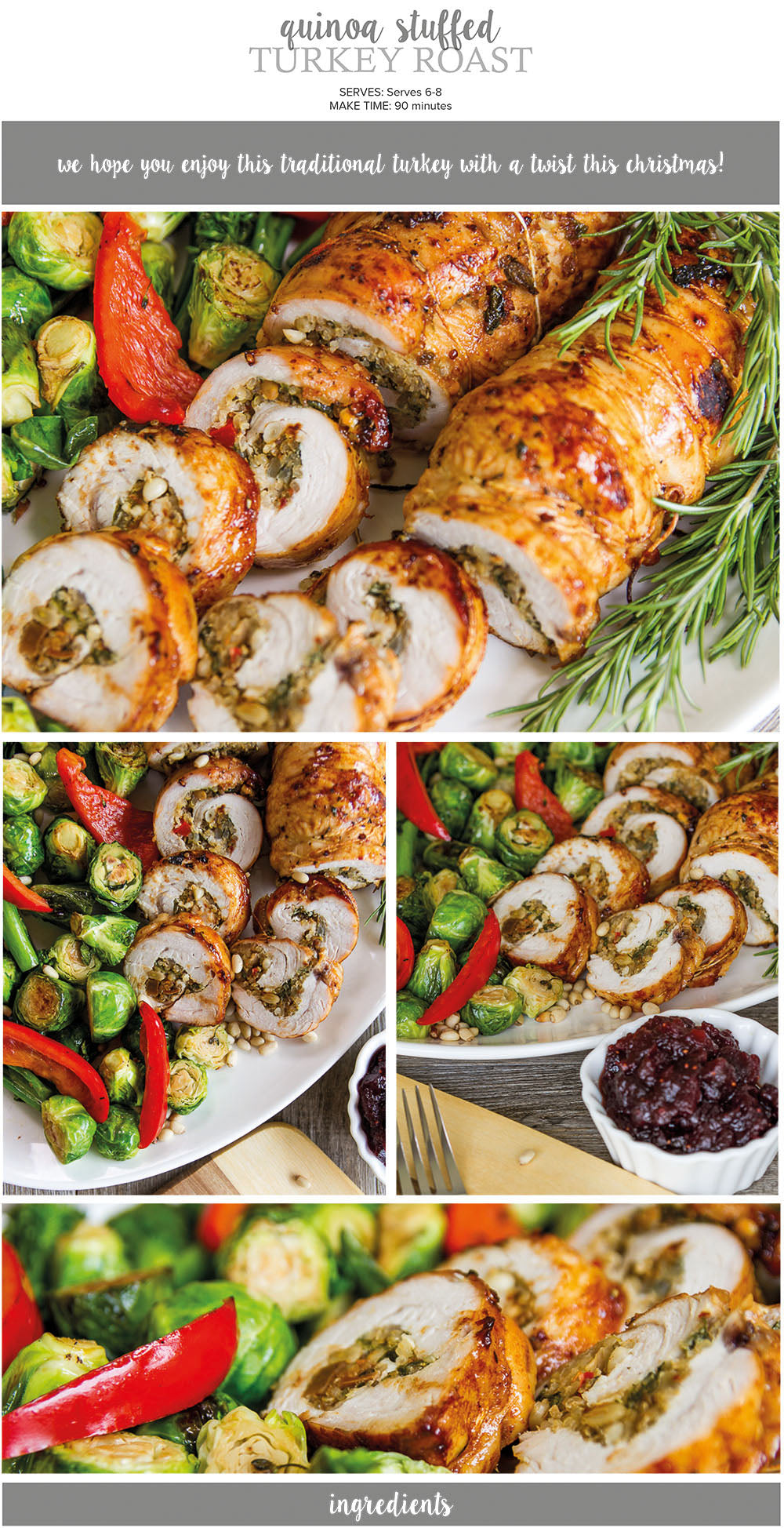 Quinoa stuffed turkey recipe