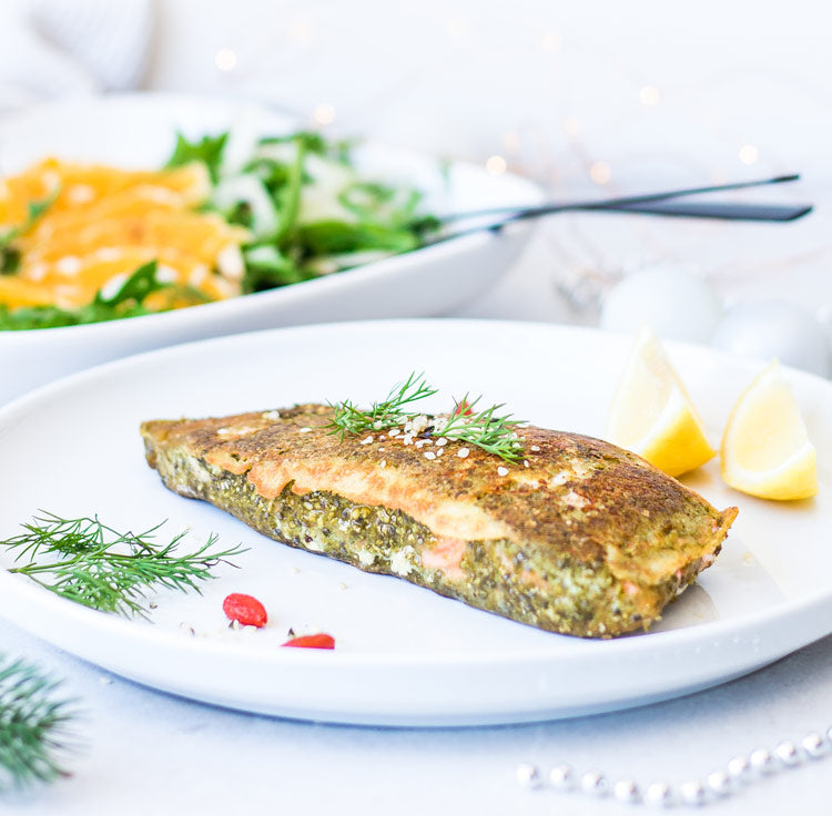 falafel crusted salmon recipe keto gluten free