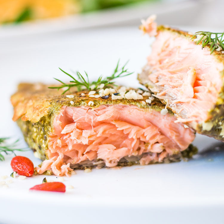 falafel crusted salmon recipe