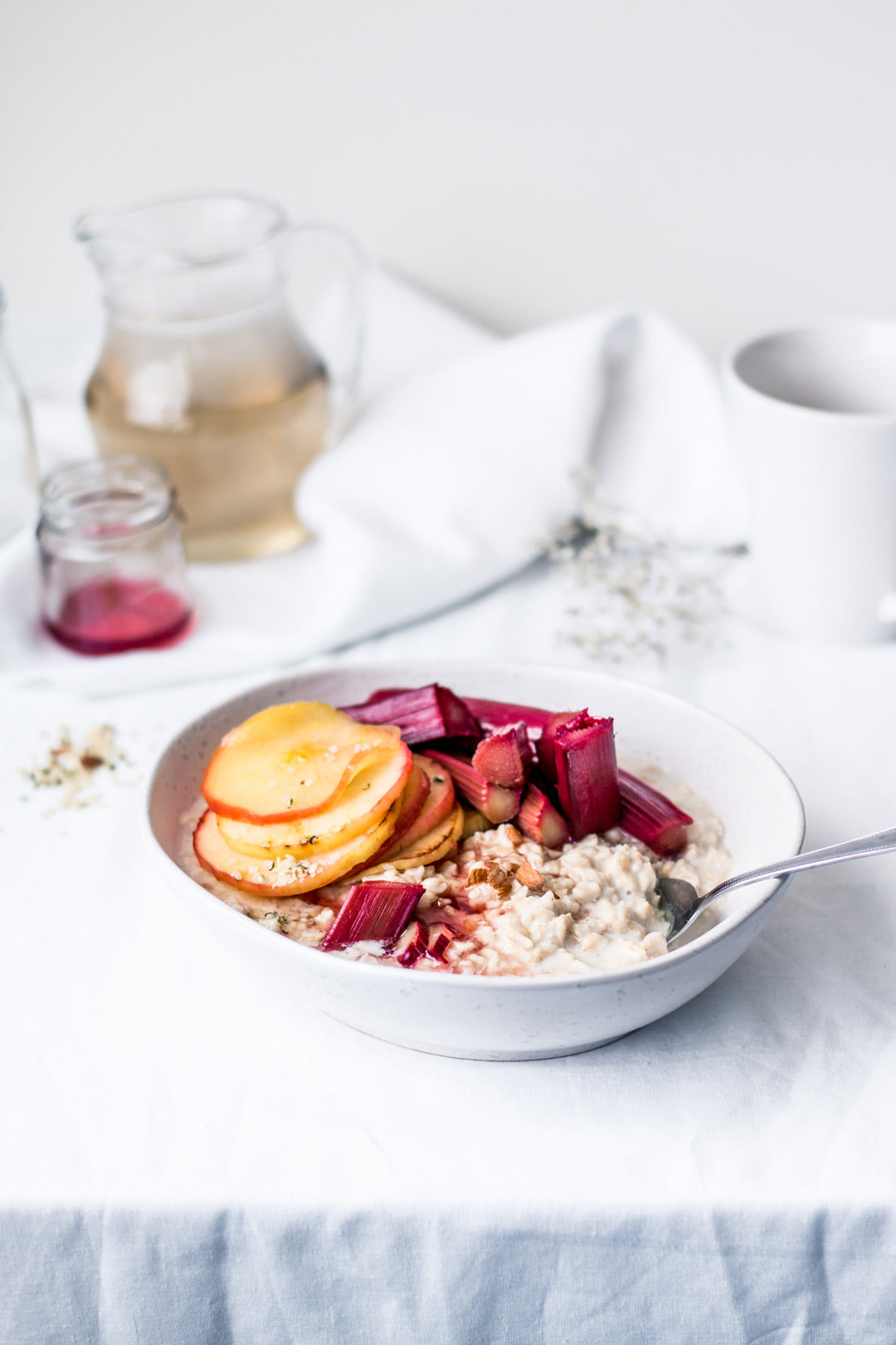 hemp oat rhubarb apple porridge recipe