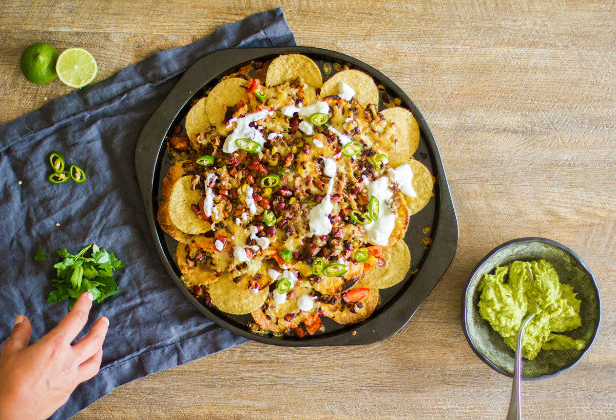 loaded beef nachos gluten free recipe