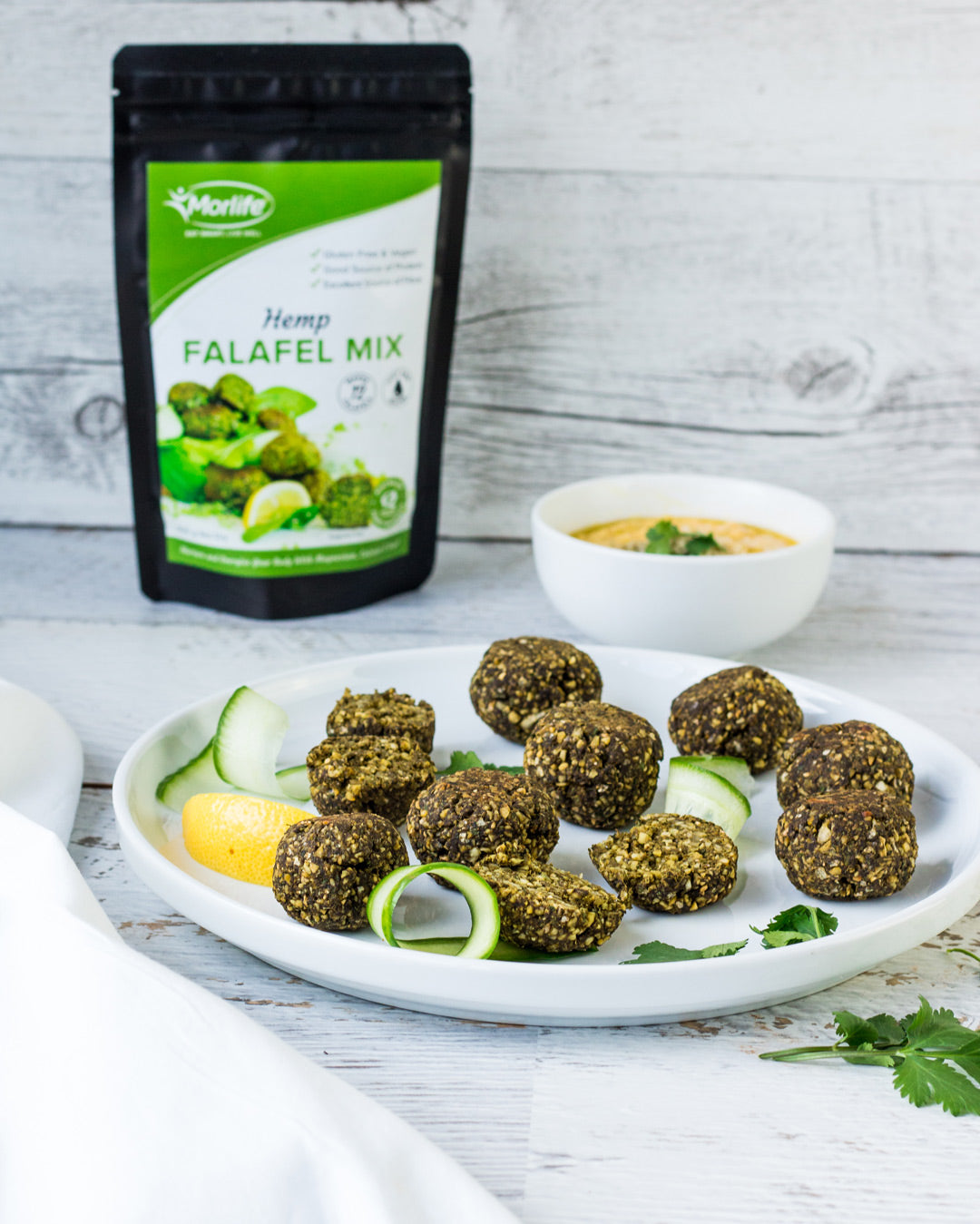 hemp falafels with dip recipe