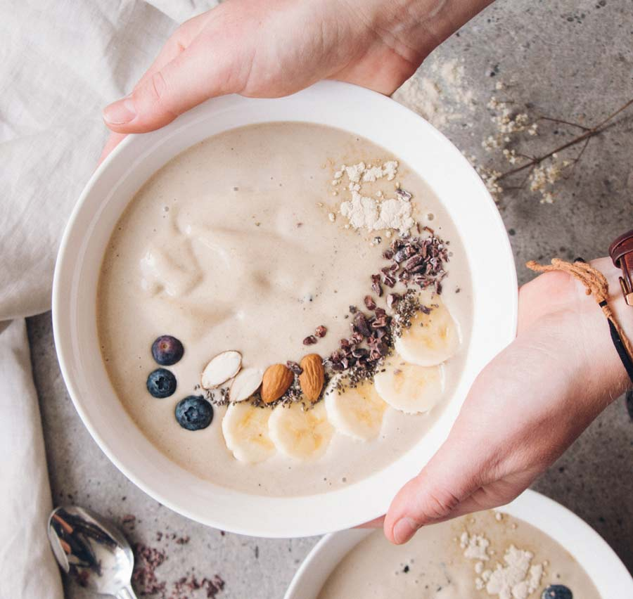 Vegan Vanilla Fudge Protein Recovery Smoothie Bowl Recipe