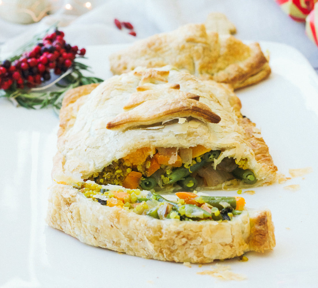 quinoa vegetable vegan wellington