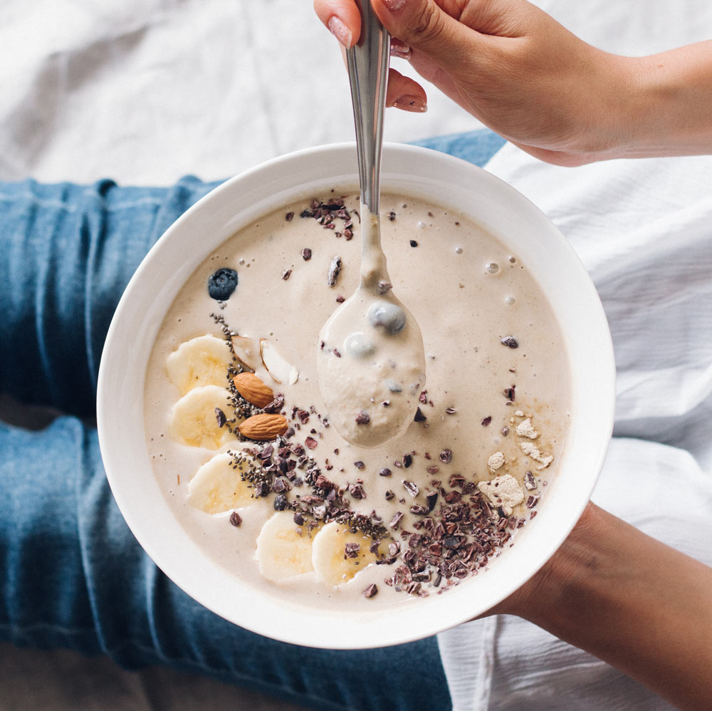 Post Workout Recovery Protein Smoothie Bowl