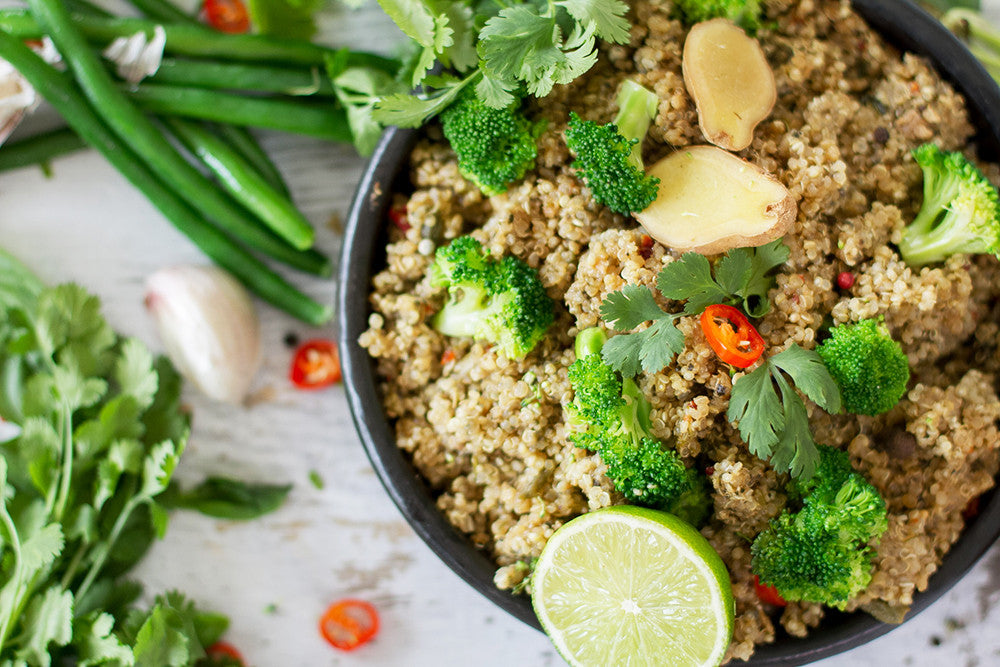 thai green curry quinoa risotto