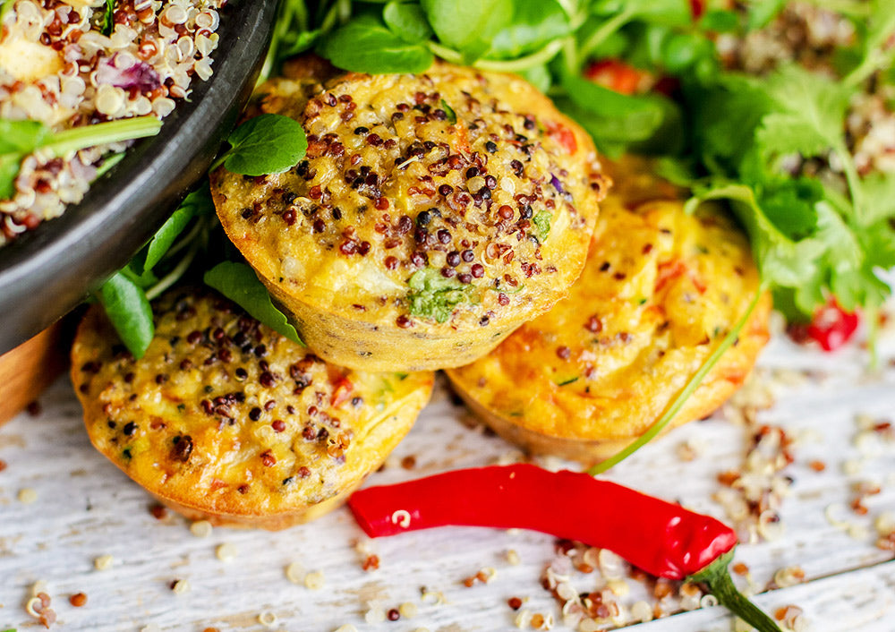 tricolour quinoa egg muffins recipe