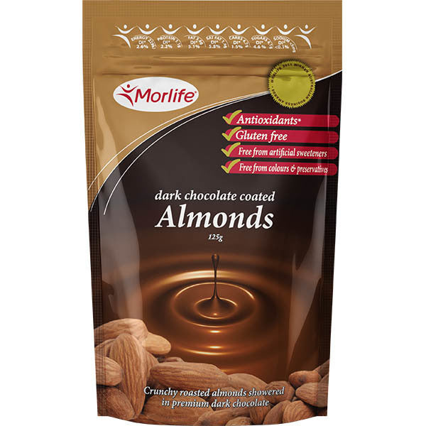 Dark Chocolate Almonds 125g