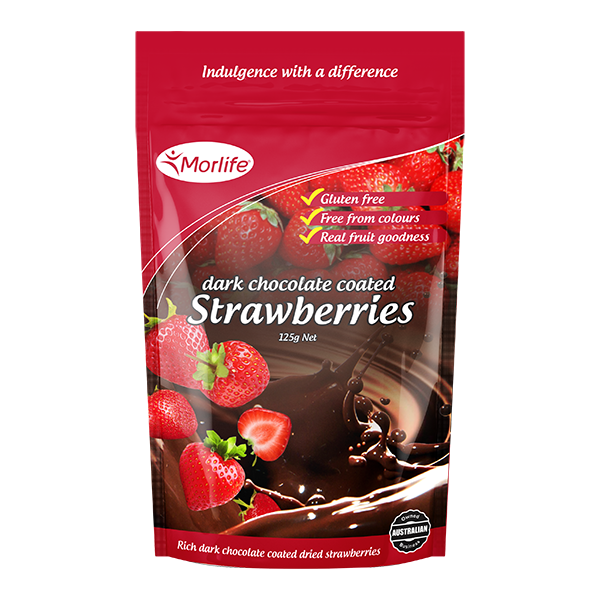 Dark Chocolate Strawberries 125g
