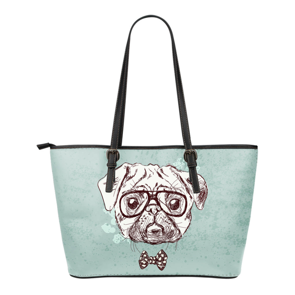 Bull Dog Small Leather Tote Bag