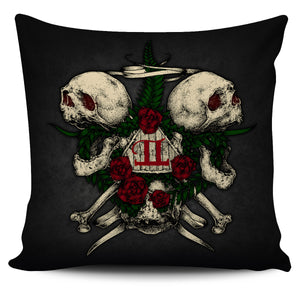 GEMINI SKULL- PILLOW COVER