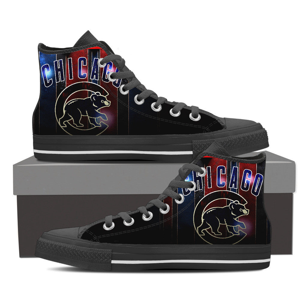 Chicago Cubs Women Canvas Shoes