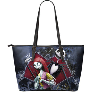 Jack and Sally Leather Tote