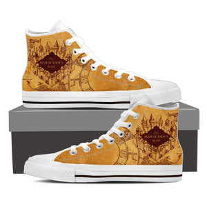 The Marauder's Map High Top Shoes