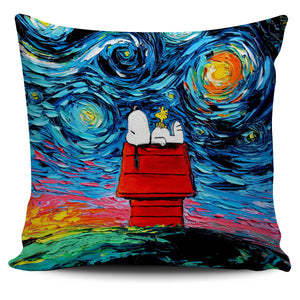 Snoopy Starry Night Pillow Cover