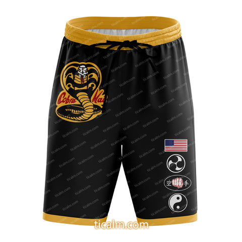 Karate Kid Cobra Kai T- shirt/ Beach Shorts