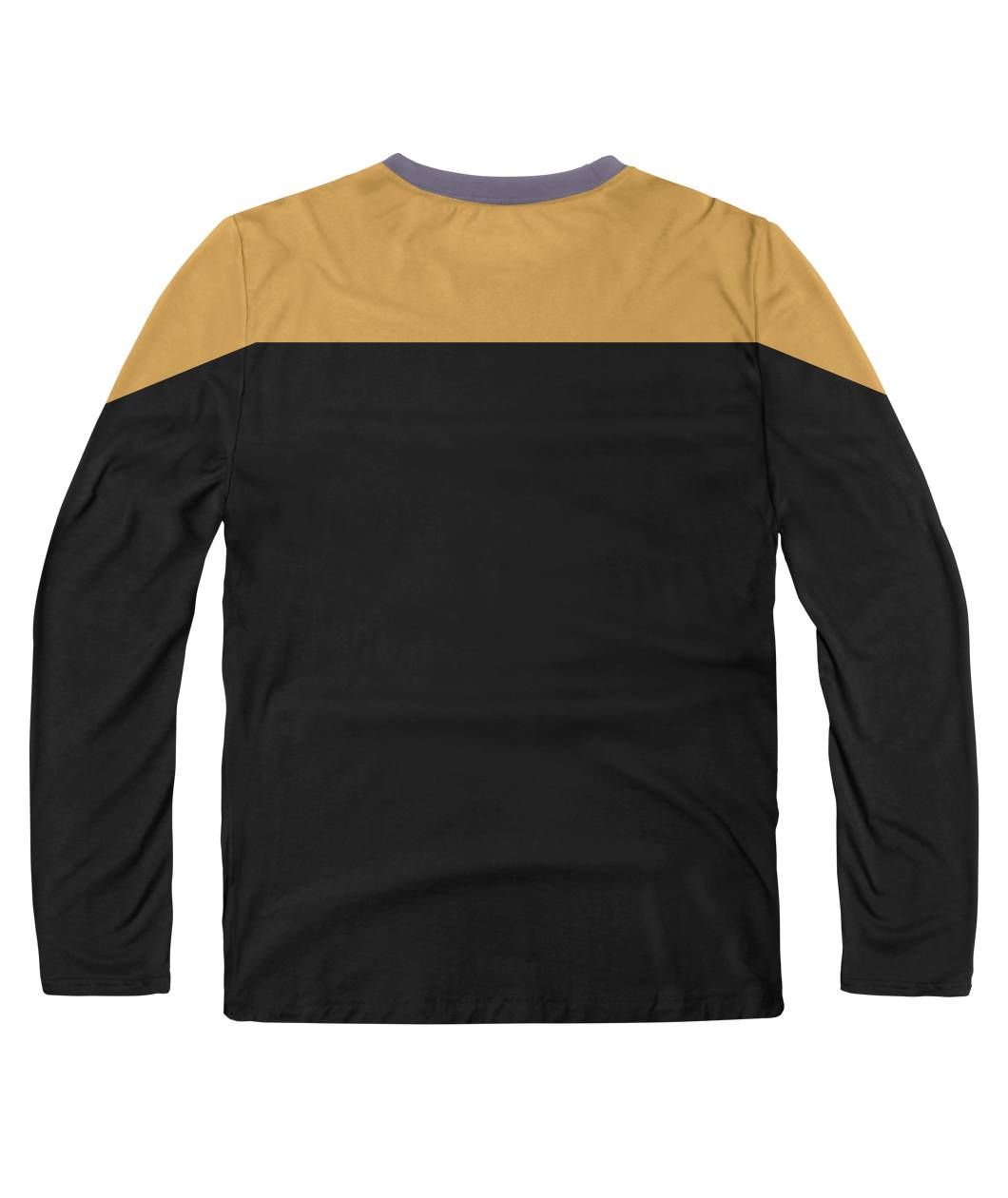 Star Trek Voyager Yellow Color Sublimation Long Sleeve Shirt