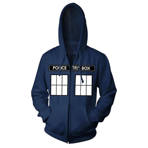Doctor Who Tardis Zip Up Hoodie