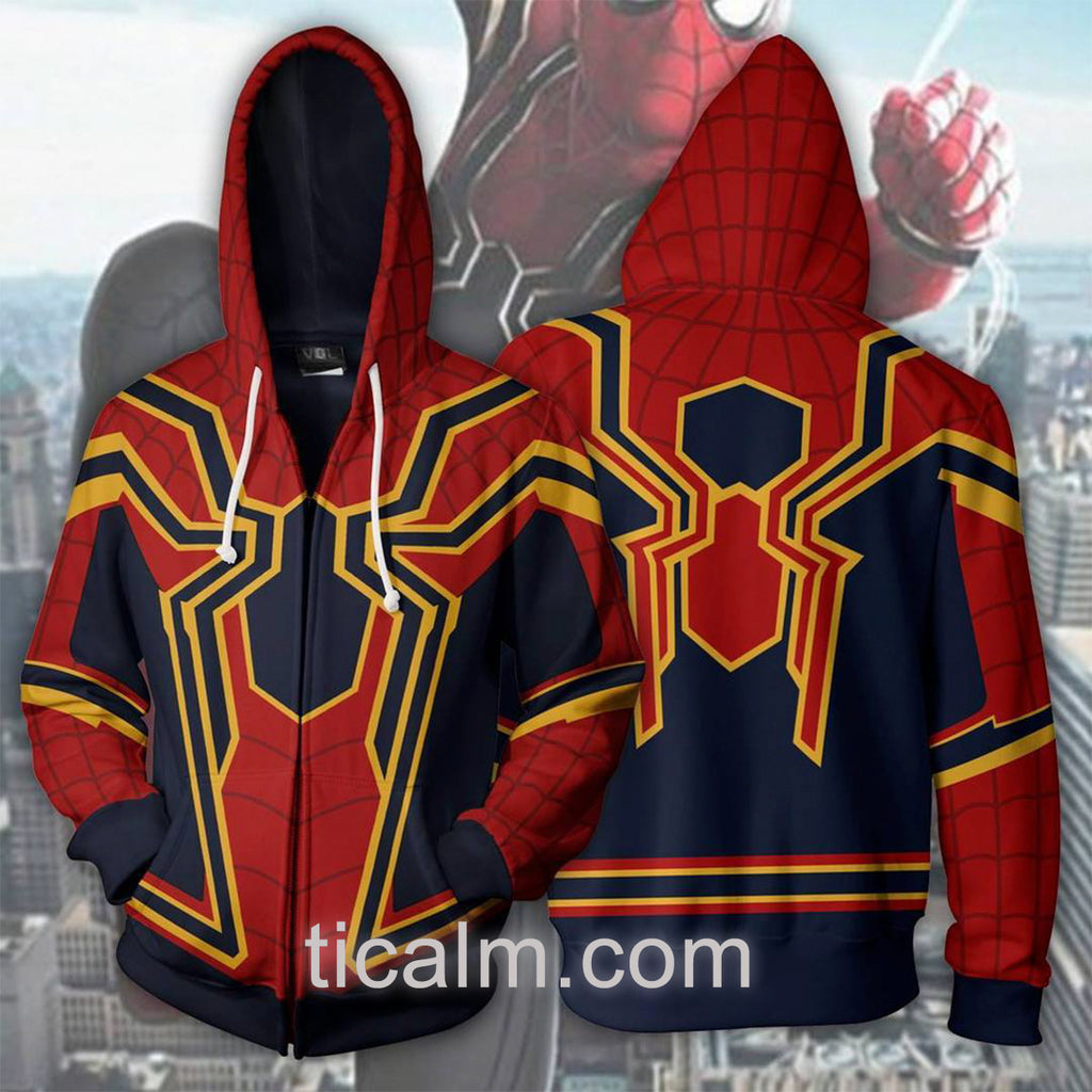 Infinity War Iron Spider Zip Up Hoodie
