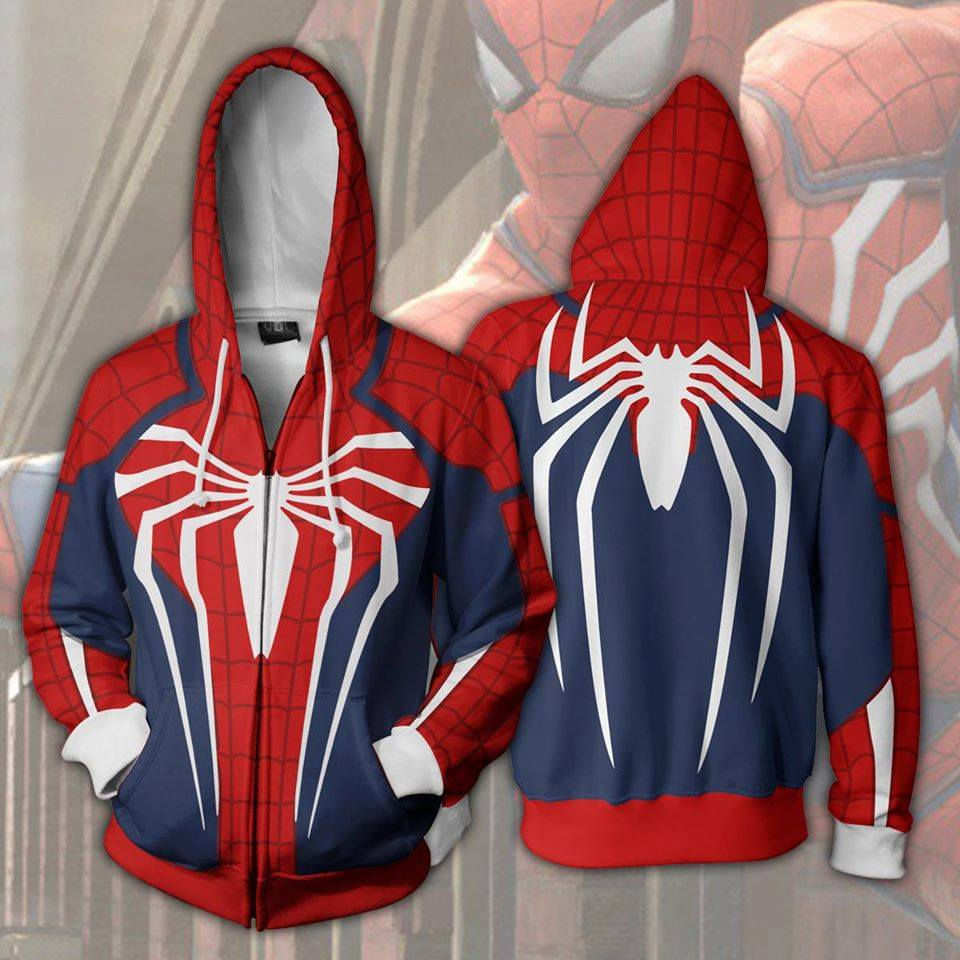 Spider-man PS4 Zip Up Hoodie