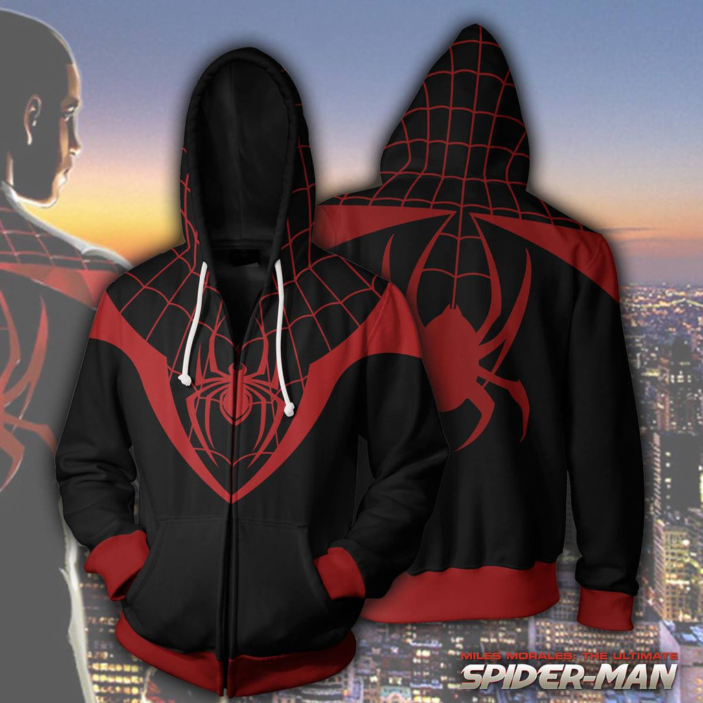 Ultimate Spider-Man Miles Morales Zip up Hoodie