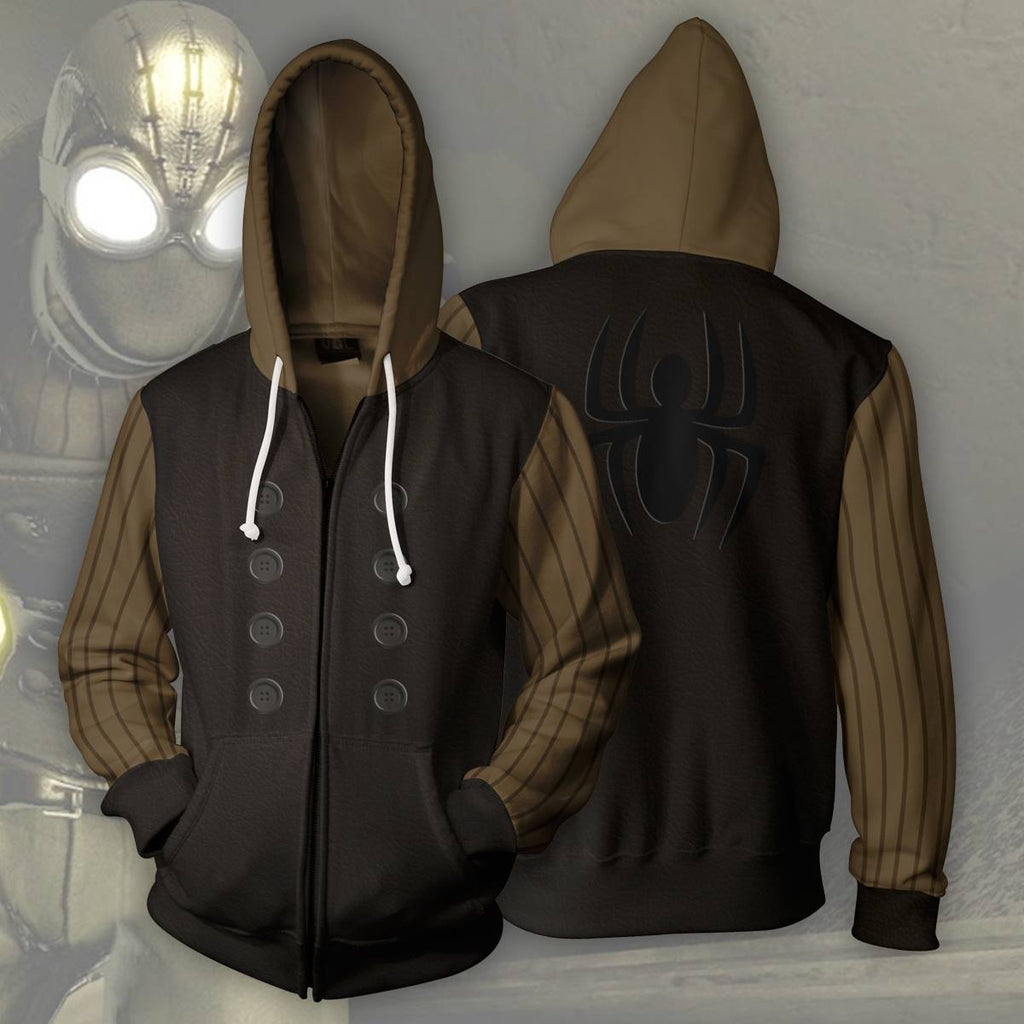 Spider-Man Noir Zip Up Hoodie