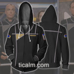 Babylon 5: Army of Light uniform Zip Up Hoodie