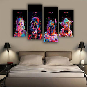 Star Wars 4 Pieces Canvas Poster