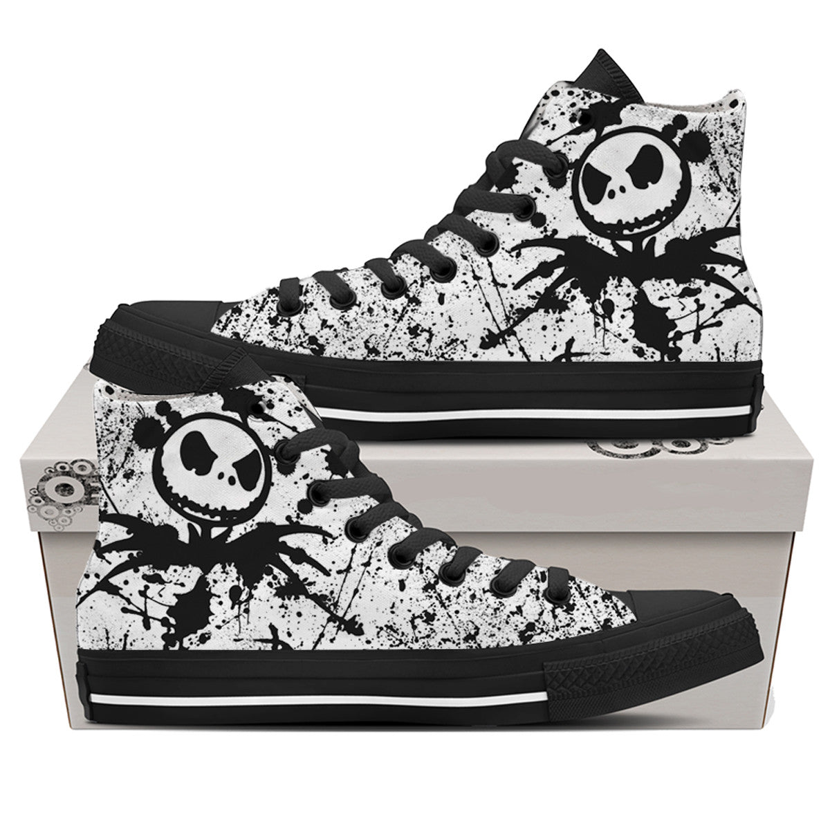 Jack Skellington Canvas Shoes - Women - White