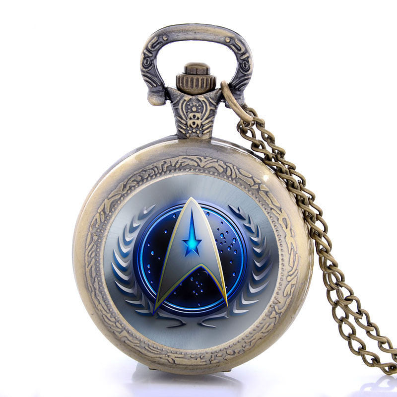 Star Trek Steampunk Pocket Watch Necklace