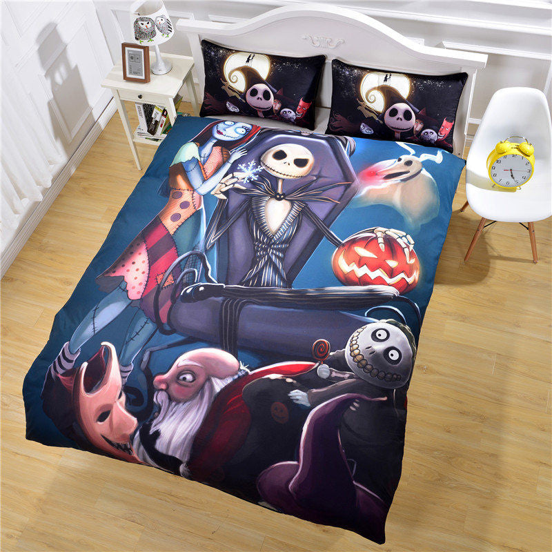 Nightmare Before Christmas Linen Printed Bed Set
