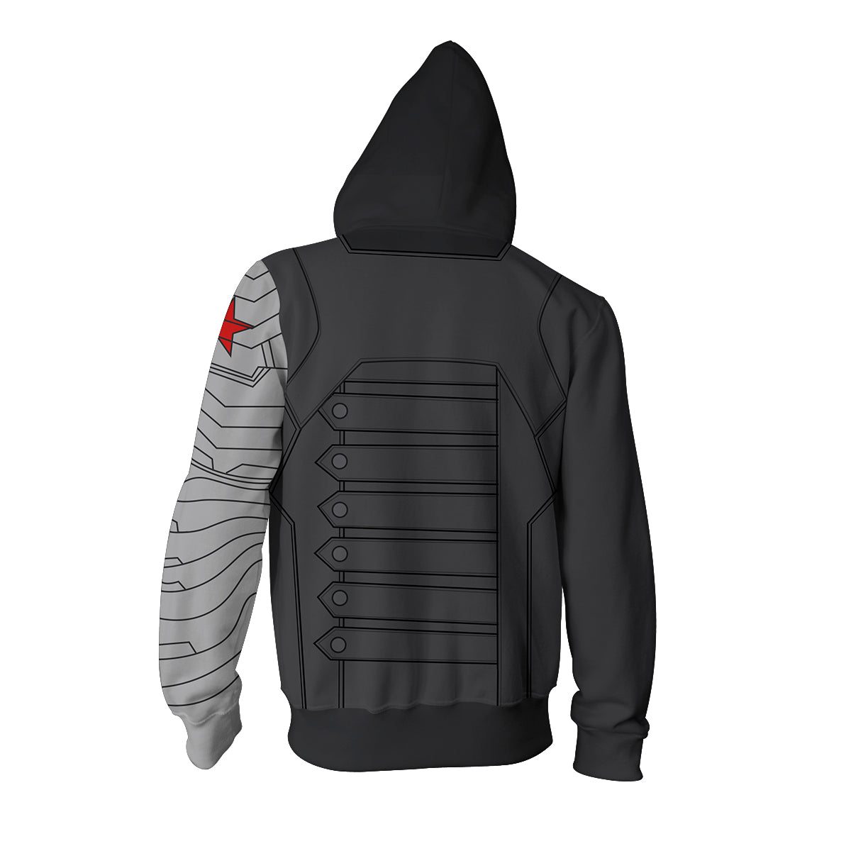 Bucky Winter Soldier Zip Up Hoodie