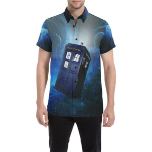 Doctor Who Tardis Galaxy Button Up Shirt
