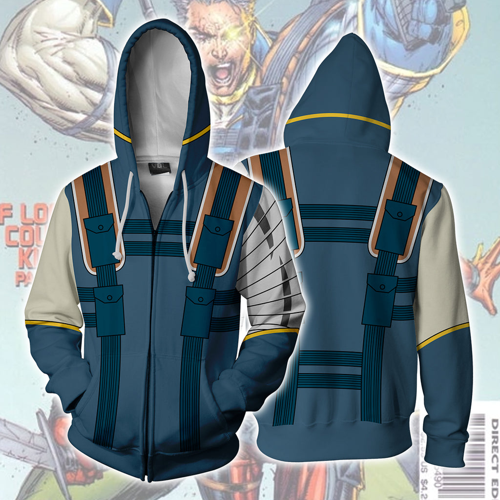 Cable Marvel Zip Up Hoodie