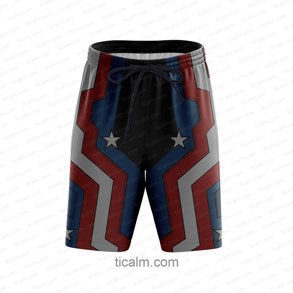 Captain America Beach Shorts