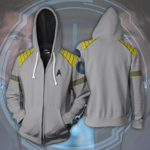 Image of Star Trek Beyond Captain Kirk Zip Up Hoodie