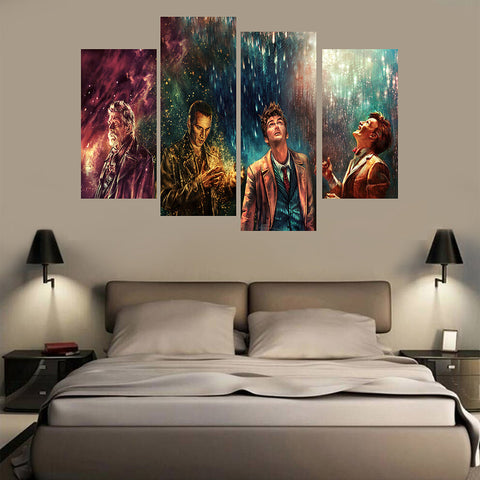 Doctor Who 4 Pieces Canvas Poster