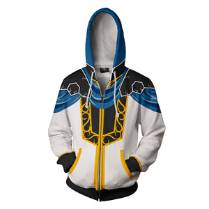 Fire Emblem: Genealogy Of The Holy - Sigurd Cosplay Zip Up Hoodie