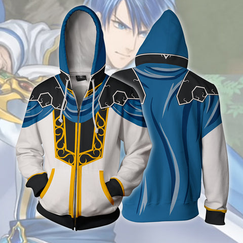 Image of Fire Emblem: Genealogy Of The Holy - Sigurd Cosplay Zip Up Hoodie