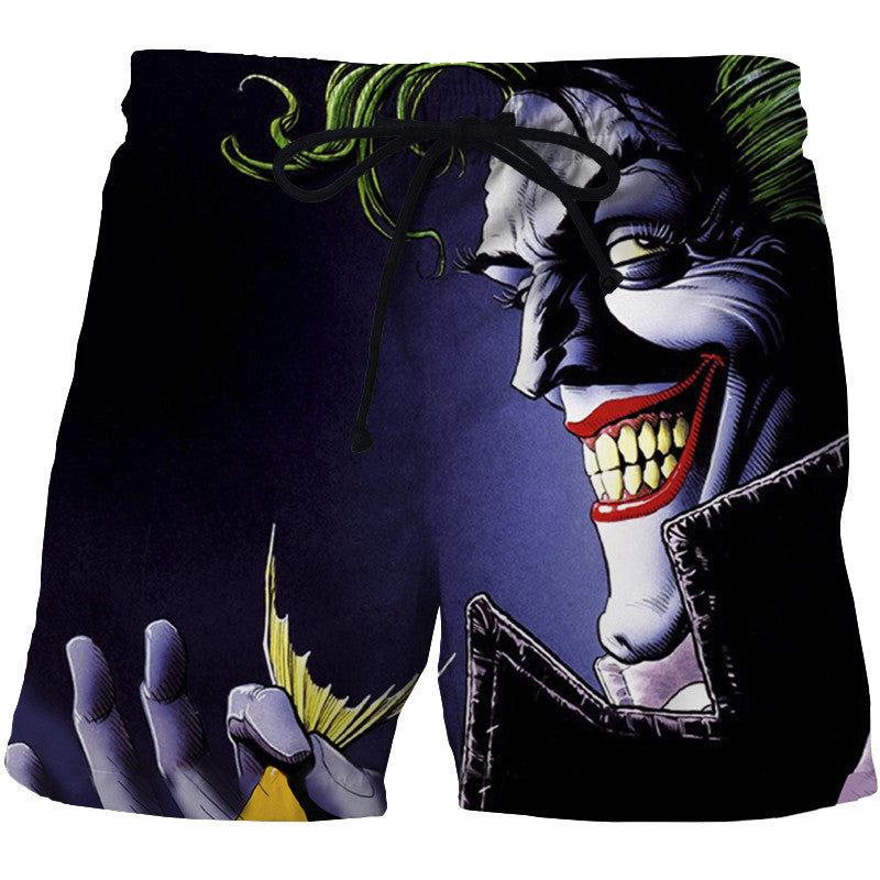 Joker High Quality 3D Print Summer Shorts Men's Beach Shorts