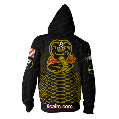 Image of The Karate Kid Cobra Kai Zip Up Hoodie