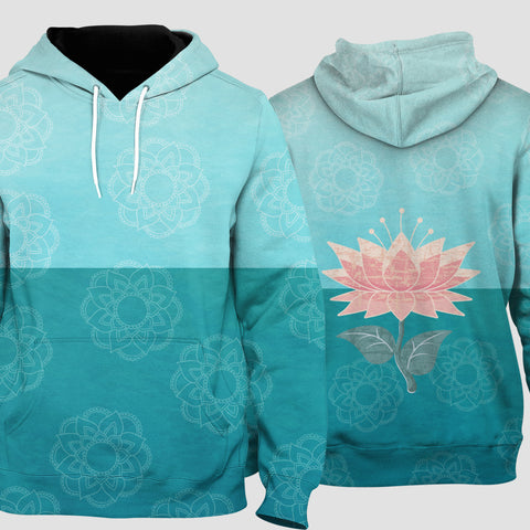 Image of LOTUS - TWO SHADES OF GREEN  Pull Over Hoodie