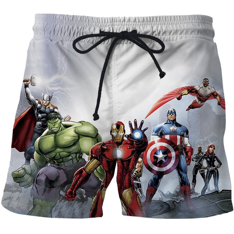Avengers High Quality 3D Print Summer Shorts Men's Beach Shorts