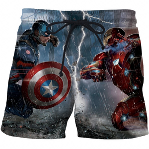 Captain America High Quality 3D Print Summer Men's Shorts