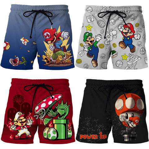 Image of Mario High Quality 3D Print Summer Shorts Men's Beach Shorts